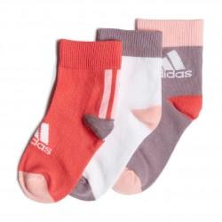 Adidas LK Ankle Socks 3PP 3 Páras Gyerek Zokni (Rózsaszín-Lila) FN0995