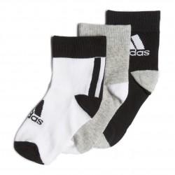 Adidas LK Ankle Socks 3PP 3 Páras Gyerek Zokni (Fekete-Fehér) FN0997