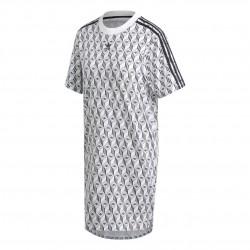 Adidas Originals Tee Dress Női Póló Ruha (Fehér-Fekete) FM1069