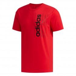 Adidas Brilliant Basics Tee Férfi Póló (Piros-Fekete) FM6093
