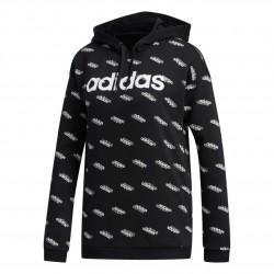 Adidas Favorites Hoodie Női Pulóver (Fekete-Fehér) FN0942