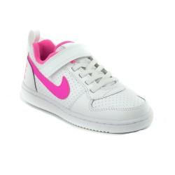 Nike Court Borough Low Lány Gyerek Cipő (Fehér-Rózsaszín) 870028-100