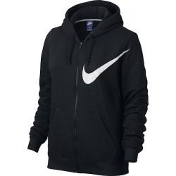Nike NSW Hoodie Női Felső (Fekete-Fehér) 832724-010