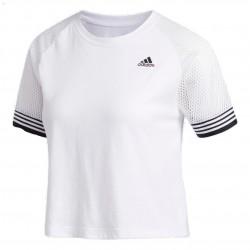 Adidas 3 Stripes Ringer Tee Női Póló (Fehér-Fekete) FL2291