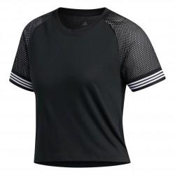 Adidas 3 Stripes Ringer Tee Női Póló (Fekete-Fehér) FJ7324