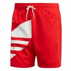 Adidas Originals Big Trefoil Swim Shorts Férfi Úszó Short (Piros-Fehér) FM9910