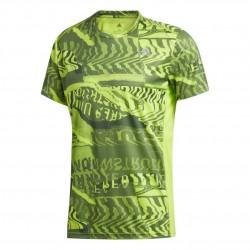 Adidas Own The Run Graphic Tee Férfi Póló (Zöld) FL6981
