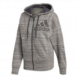Adidas Melange Hoodie Női Felső (Szürke-Fekete) FI4626