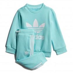 Adidas Originals Crew Sweatshirt Set Uniszex Bébi Együttes (Türkiz-Fehér) FM5588