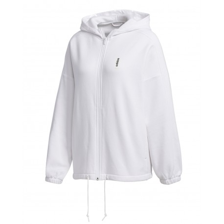 Adidas Brilliant Basics Hoodie Női Felső (Fehér-Fekete) FM6198