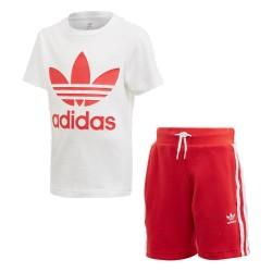 Adidas Originals Short Tee Set Fiú Gyerek Együttes (Piros-Fehér) FT8808