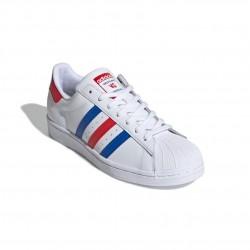 Adidas Originals Superstar Férfi Cipő (Fehér-Kék-Piros) FV2806