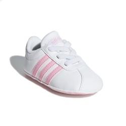 Adidas VL Court 2.0 Kislány Bébi Kocsicipő (Fehér-Rózsaszín) F36603