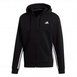 Adidas Must Haves 3 Stripes Hoodie Férfi Felső (Fekete-Fehér) DX7657