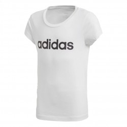 Adidas YG Essentials Linear Tee Lány Gyerek Póló (Fehér-Fekete) DV0357