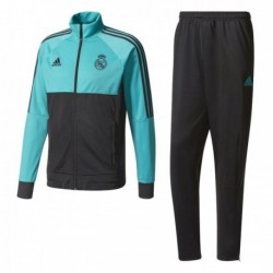 Adidas Real Madrid Presentation Suit Férfi Melegítő Együttes (Türkiz-Fekete) BR8873
