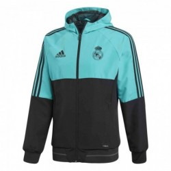 Adidas Real Madrid Presentation Jacket Férfi Felső (Türkiz-Fekete) BR8867