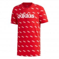 Adidas Favorites Tee Férfi Póló (Piros-Fehér) FM6024