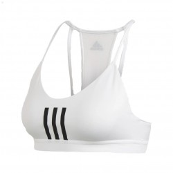 Adidas All Me 3S Mesh Bra Női Sportmelltartó (Fehér-Fekete) FT1877