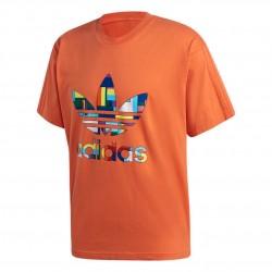 Adidas Originals Flag Fill Tee Férfi Póló (Narancs-Színes) GK8514
