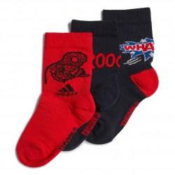 Adidas Spider-Man Graphic Crew Socks 3PP 3 Páras Gyerek Zokni (Fekete-Piros) GE3297
