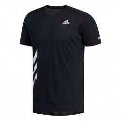 Adidas Run It 3 Stripes Tee Férfi Póló (Fekete-Fehér) FR8382