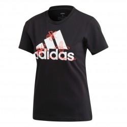 Adidas Floral Graphic Tee Női Póló (Fekete-Fehér-Rózsaszín) GD4989