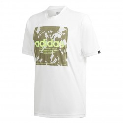 Adidas Camouflage Box Tee Férfi Póló (Fehér-Zöld) GD5875