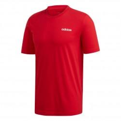 Adidas Essentials Plain Tee Férfi Póló (Piros-Fehér) FM6214
