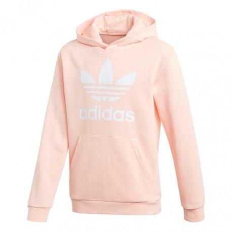 Adidas Originals Trefoil Hoodie Lány Gyerek Pulóver (Rózsaszín-Fehér) GD2712