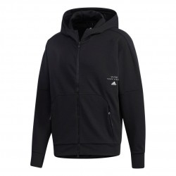 Adidas Must Haves Aeroready FZ Hoodie Férfi Felső (Fekete-Fehér) GE0373