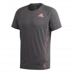 Adidas Runner Tee Férfi Futó Póló (Szürke-Barack) GH7895