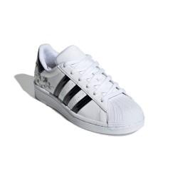Adidas Originals Superstar J Női Cipő (Fehér-Fekete) FW0779