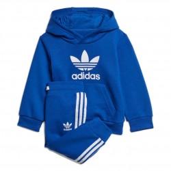 Adidas Originals Trefoil Hoodie Set Kisfiú Bébi Együttes (Kék-Fehér) GD2629