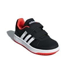 Adidas Hoops 2.0 CMF C Fiú Gyerek Cipő (Fekete-Piros) B75960