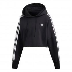 Adidas Originals Cropped Hoodie Női Rövidített Pulóver (Fekete-Fehér) ED7554