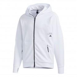 Adidas Must Haves Aeroready FZ Hoodie Férfi Felső (Fehér-Fekete) GE0374