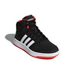 Adidas Hoops Mid 2.0 K Fiú Gyerek Cipő (Fekete-Fehér-Piros) B75743