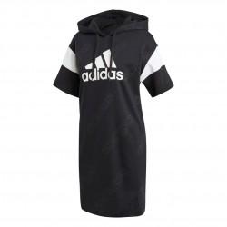 Adidas Graphic Hoodie Dress Női Ruha (Fekete-Fehér) GJ6602