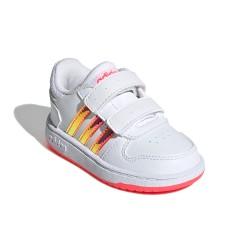 Adidas Hoops 2.0 CMF I Kislány Gyerek Cipő (Fehér-Rózsaszín) FW7614