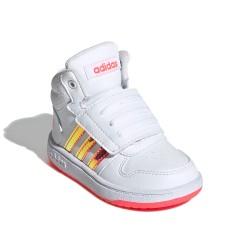 Adidas Hoops 2.0 I Kislány Gyerek Cipő (Fehér-Rózsaszín) FW7609