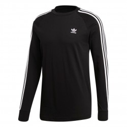 Adidas Originals 3 Stripes LS Tee Férfi Felső (Fekete-Fehér) DV1560