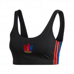 Adidas Originals Adicolor 3D Trefoil Bra Top Női Sportmelltartó (Fekete-Színes) GD2354