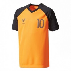 Adidas Messi Icon Junior Short Sleeve Top Fiú Gyerek Póló (Fekete-Narancssárga) CE9547