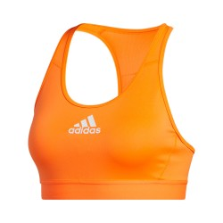 Adidas Dont Rest Alphaskin Padded Bra Női Sportmelltartó (Narancs-Fehér) FT9865