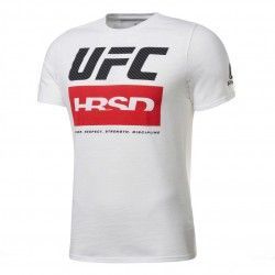 Reebok UFC FG Fight Week Tee Férfi Póló (Fehér-Fekete-Piros) FU1273