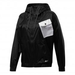 Reebok WOR MYT Woven Jacket Női Dzseki (Fekete-Fehér) FU2388