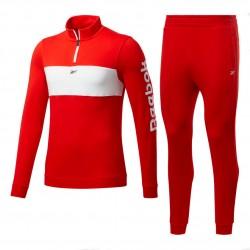 Reebok Training Essentials Linear Logo TS Férfi Együttes (Piros-Fehér) FU3197