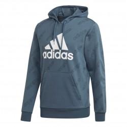 Adidas Favorites Graphic Hoodie Férfi Pulóver (Kék-Fehér) GJ6598