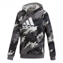 Adidas YB Must Haves BOS Hoodie Fiú Gyerek Pulóver (Fekete-Szürke) GE0693